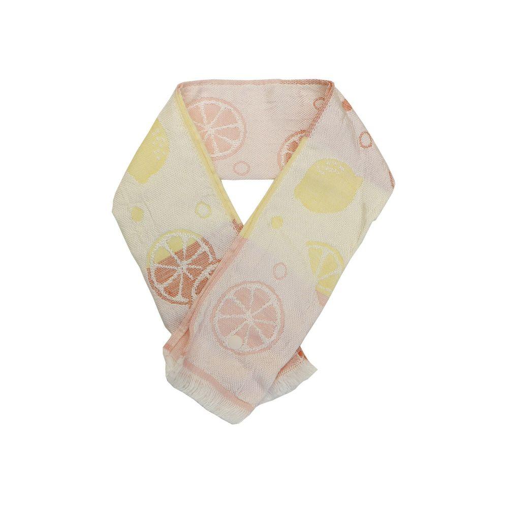 日本涼感雜貨 - 日本製 Eco de COOL 接觸冷感毛巾(附保冷劑/固定釦)兒童-檸檬-漸層橘黃 (65x8cm)