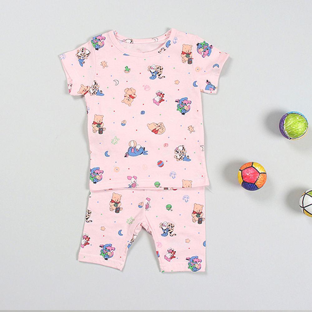 韓製家居服-維尼家族-粉紅