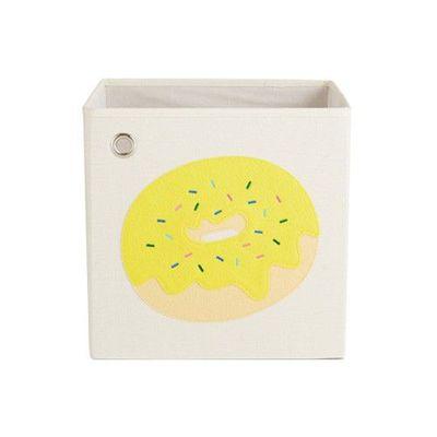 玩具收納箱-香蕉巧克力甜甜圈 (33x33x33cm)