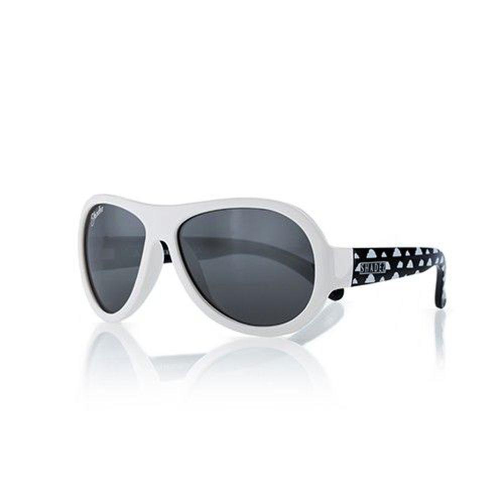SHADEZ - 可彎折嬰幼兒時尚太陽眼鏡-白黑雲朵 (3Y~7Y)
