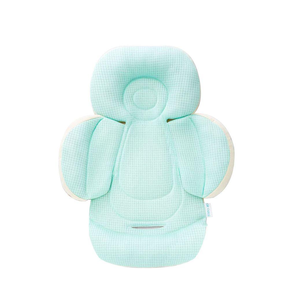 air cossi - 超透氣抗菌天絲坐墊-新生兒全身包覆款0-4m-清新綠 (59.5x32.5cm)