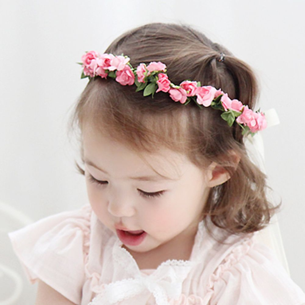 韓國 Babyblee - 浪漫仙子花圈-粉紅