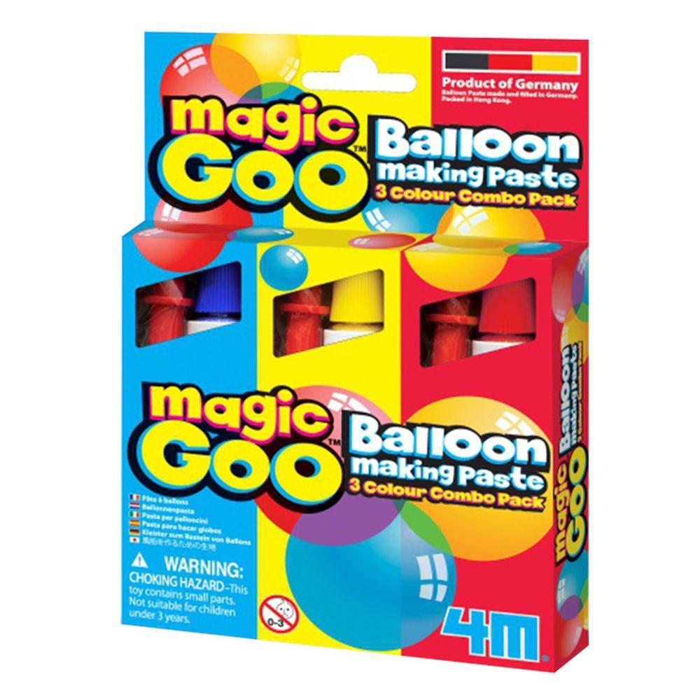 香港4M創意玩具 - 【好好玩欲罷不能三入組】魔法泡泡 Magic Goo-一組三色