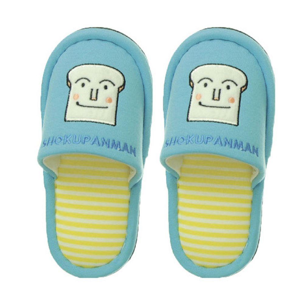 日本千趣會 - 兒童室內拖鞋-吐司麵包超人-水藍 (14-16cm)