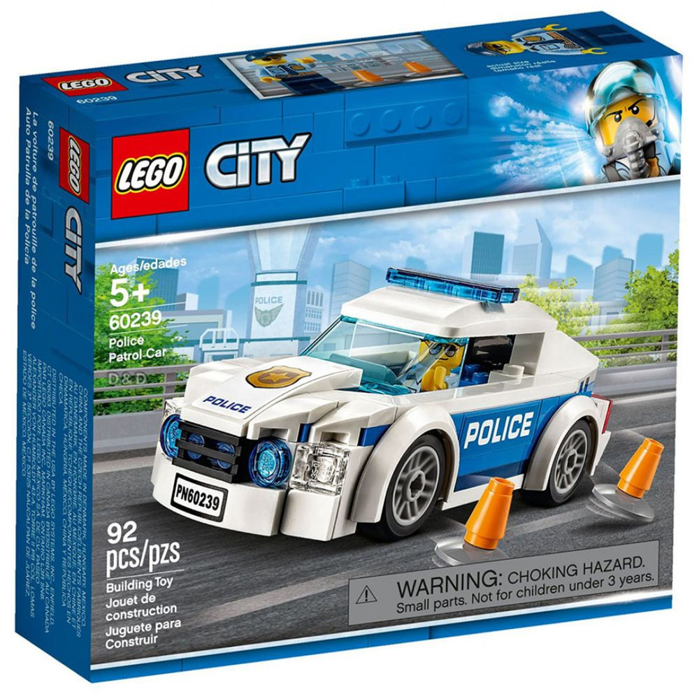 樂高 LEGO - 樂高 CITY 城市警察系列 - 警察巡邏車 60239-92pcs