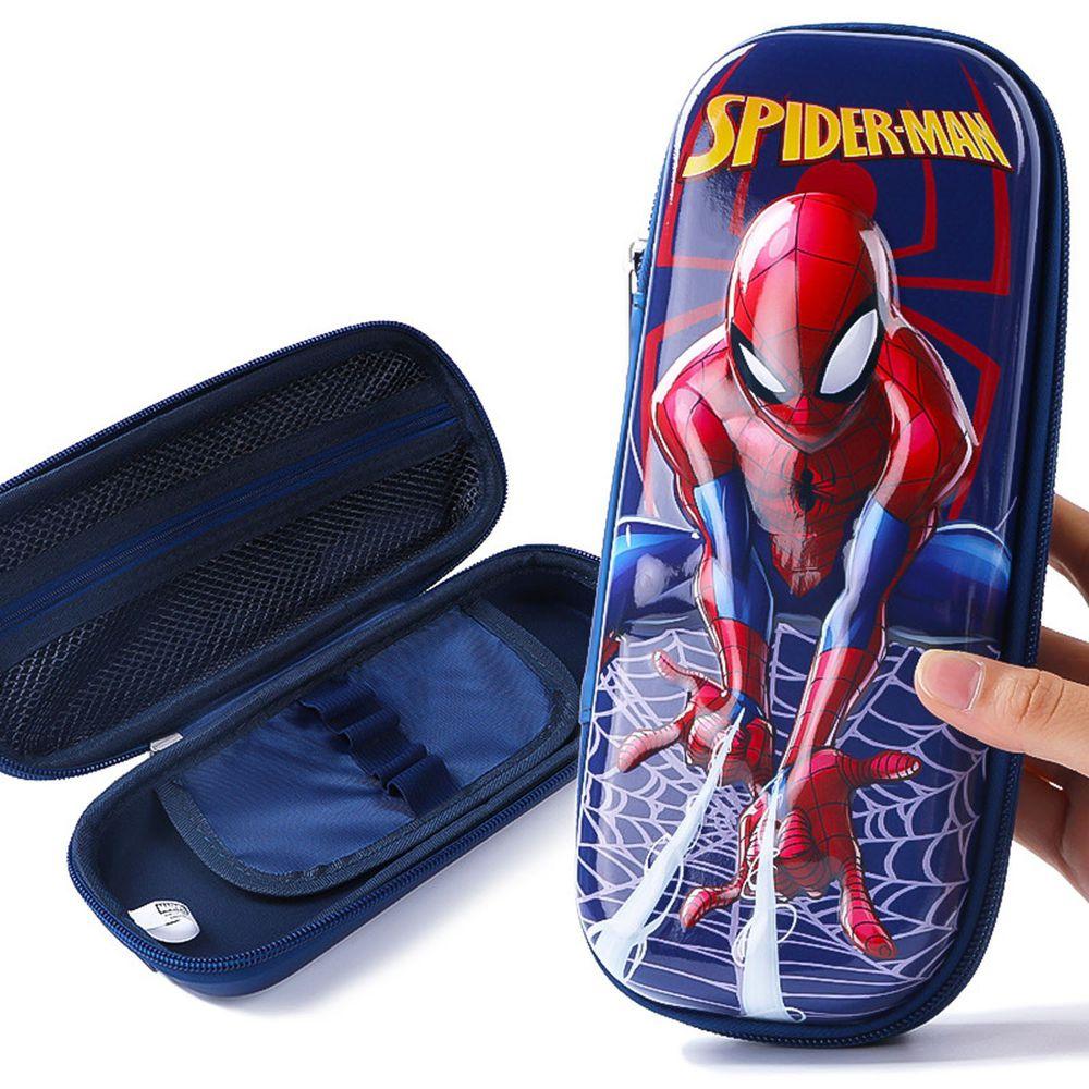 防水3D立體大容量鉛筆盒-卡通人物蜘蛛人 (噴絲款)