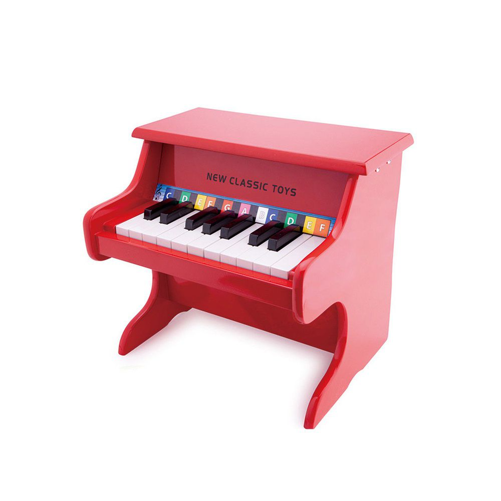 荷蘭 New Classic Toys - 【新品】幼兒18鍵鋼琴玩具-經典紅