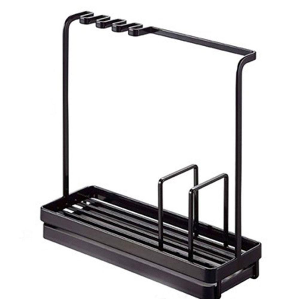 多功能海綿瀝水架-黑色