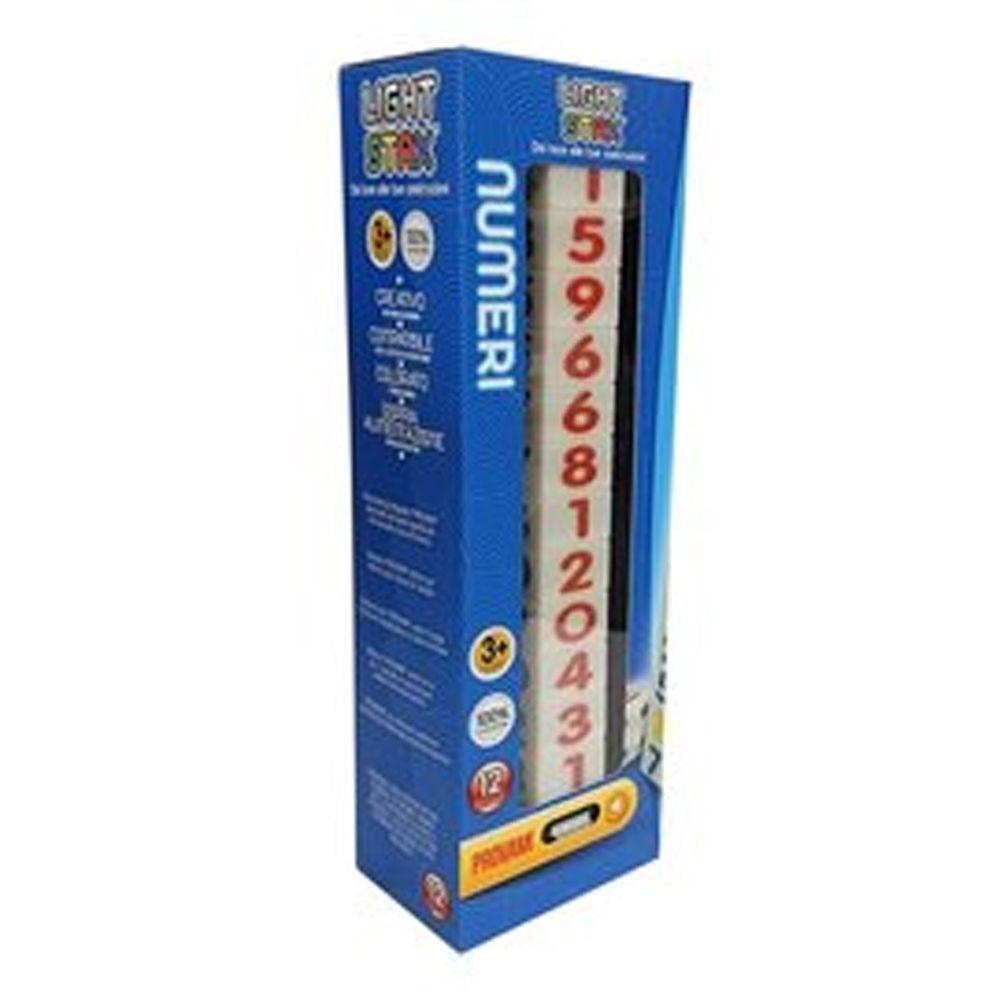 美國 Light Stax - NUMBERS亮亮積木-大顆粒LED積木-數字款-12顆
