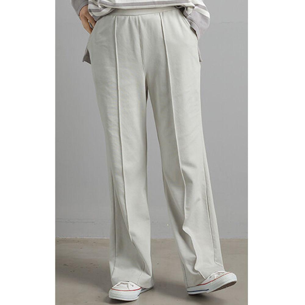 日本女裝代購 - 彈性寬管西裝褲-薄荷綠