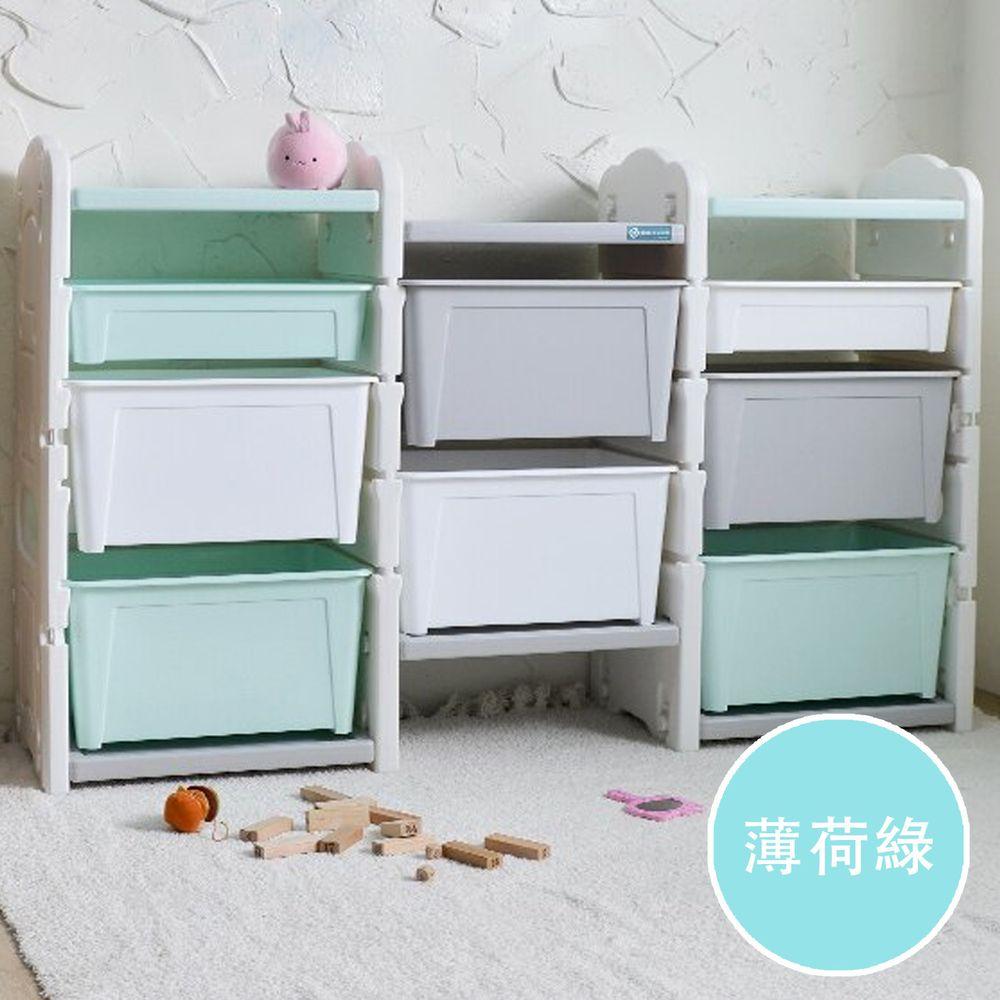 家窩 - 伊格玩具直取收納三櫃組(6大2小收納箱)-DIY-薄荷綠