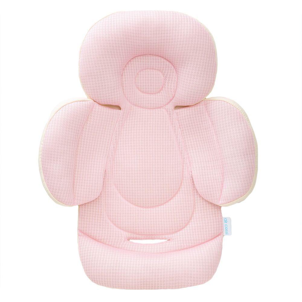 air cossi - 超透氣抗菌天絲坐墊-新生兒全身包覆款0-4m-輕盈粉 (59.5x32.5cm)