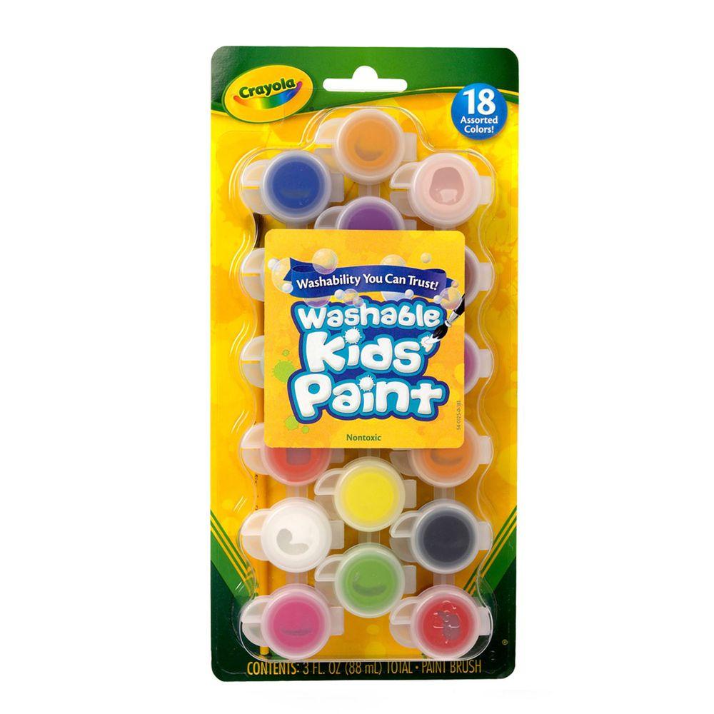 Crayola繪兒樂 - 可水洗兒童顏料18色