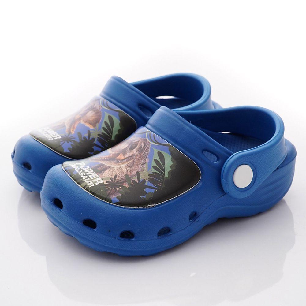 侏儸紀公園 - 卡通童鞋-輕量恐龍布希鞋款(中小童段)-藍