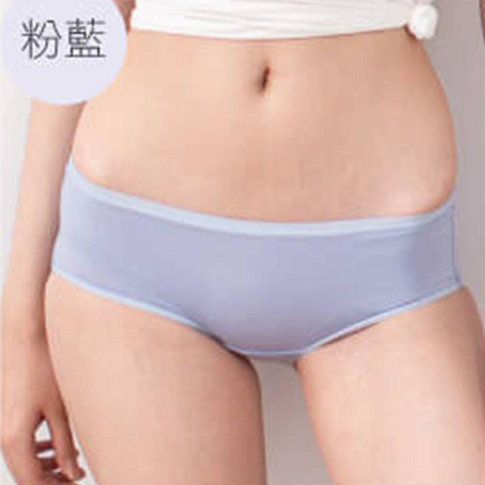 貝柔 Peilou - 天絲棉舒膚平衡女三角內褲-低腰-粉藍