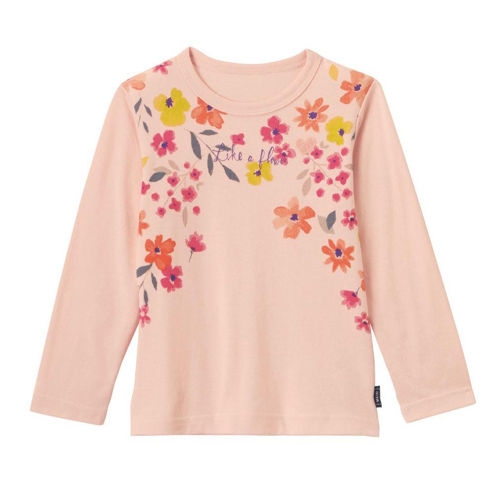 日本千趣會 - GITA 純棉輕薄舒適長T-法式花園-粉