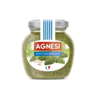 Agnesi義式蒜香義大利麵醬-青醬-185克