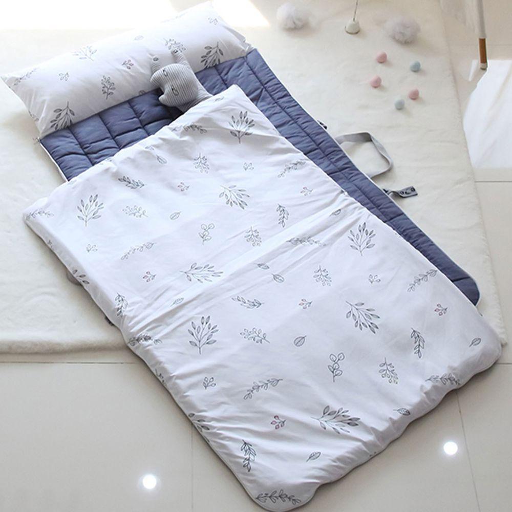 韓國 Teepee - 四季用防蟎抗菌兒童睡袋(有拉鍊)-香草白