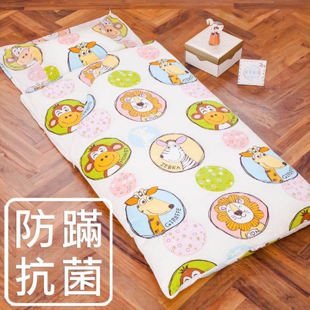 鴻宇HONGYEW - 防螨抗菌100%美國棉鋪棉兩用兒童睡袋-歡樂動物園-1725