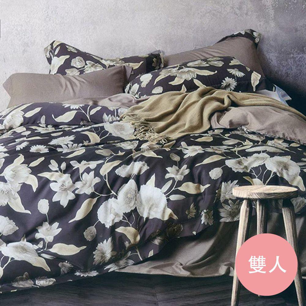 飛航模飾 - TencelⓇ80s 升級享受獨家觸感 床包四件組-百合(雙人床包兩用被四件組) (雙人5*6.2尺)