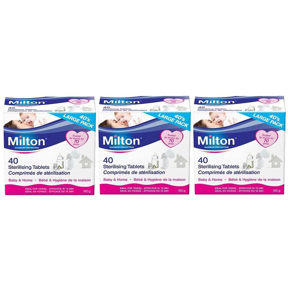 英國 米爾頓 Milton - 嬰幼兒專用消毒錠-40錠*3盒