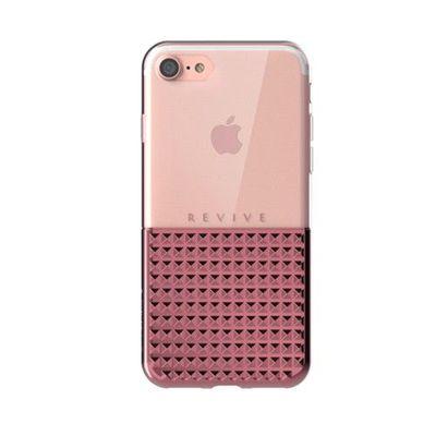 Revive 鑽石紋吸震保護套-玫瑰金-iPhone 7 Plus