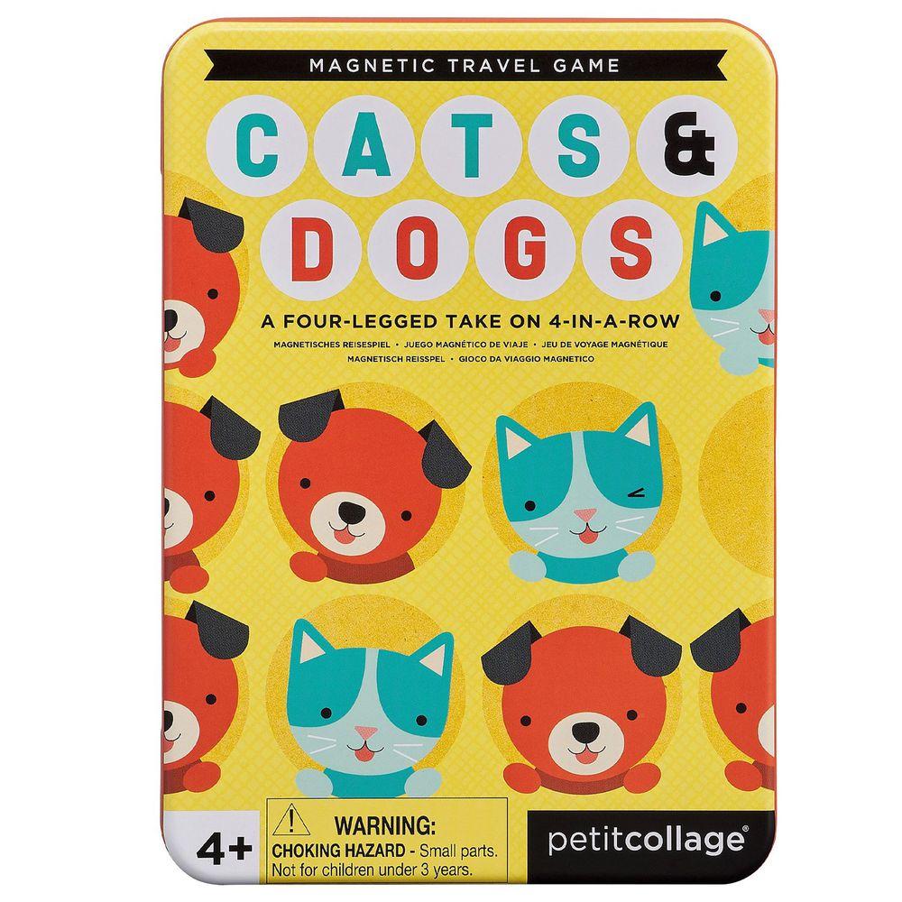 美國 Petit Collage - 【新品】隨行磁鐵桌遊-貓狗大戰