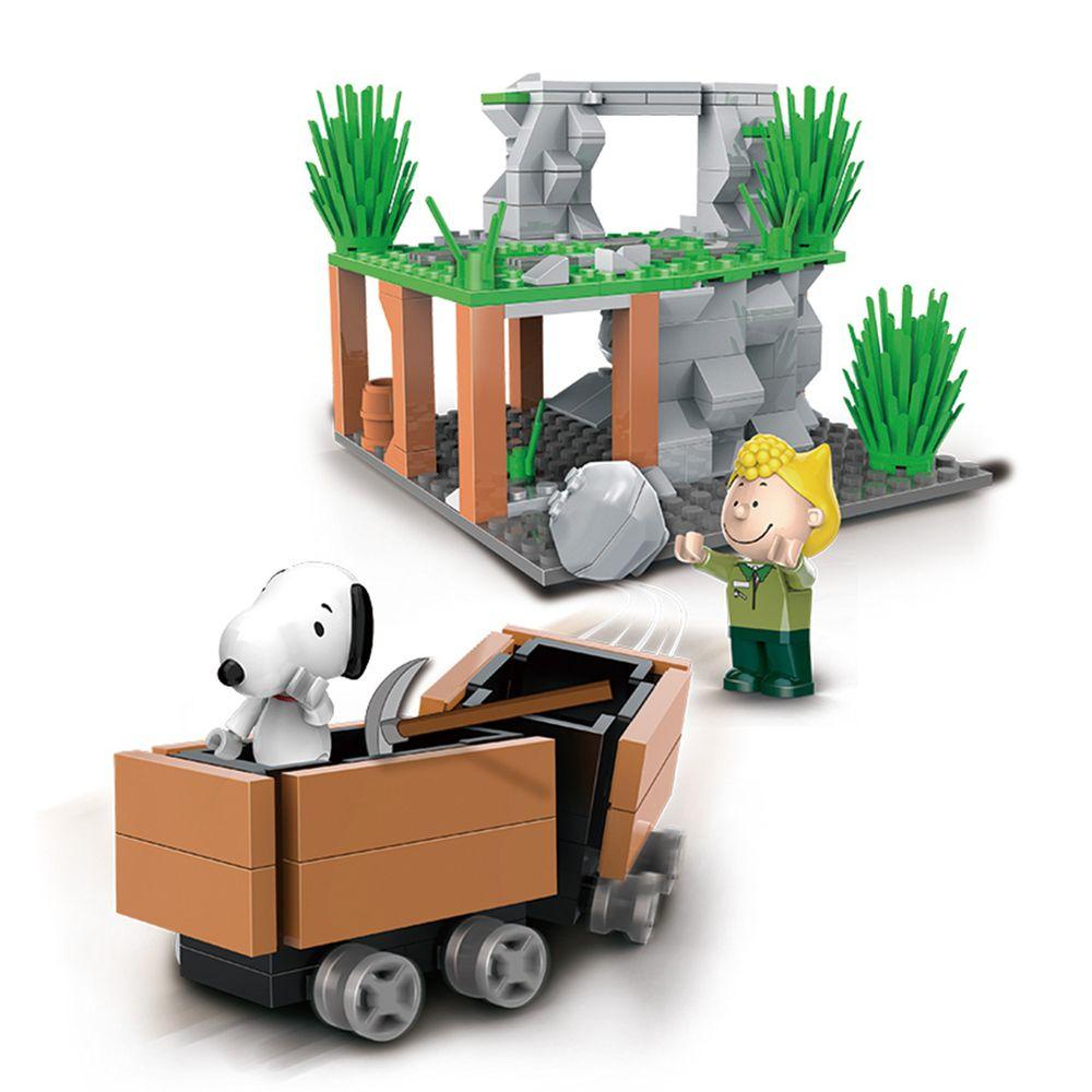 Linoos - 史努比叢林系列-叢林採礦車-186片