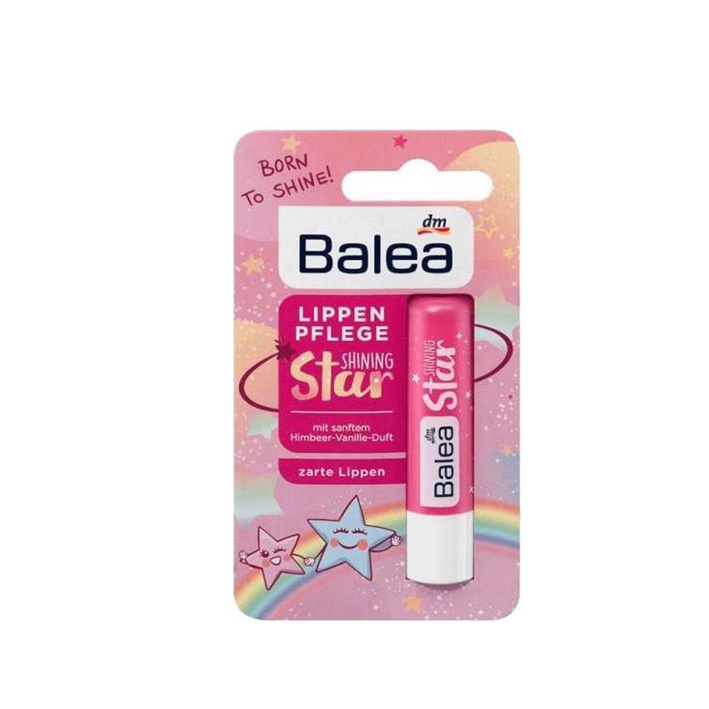 德國 DM-Balea Little Princess - 小公主Star閃亮星星香草覆盆子護唇潤唇膏-(4.8g)