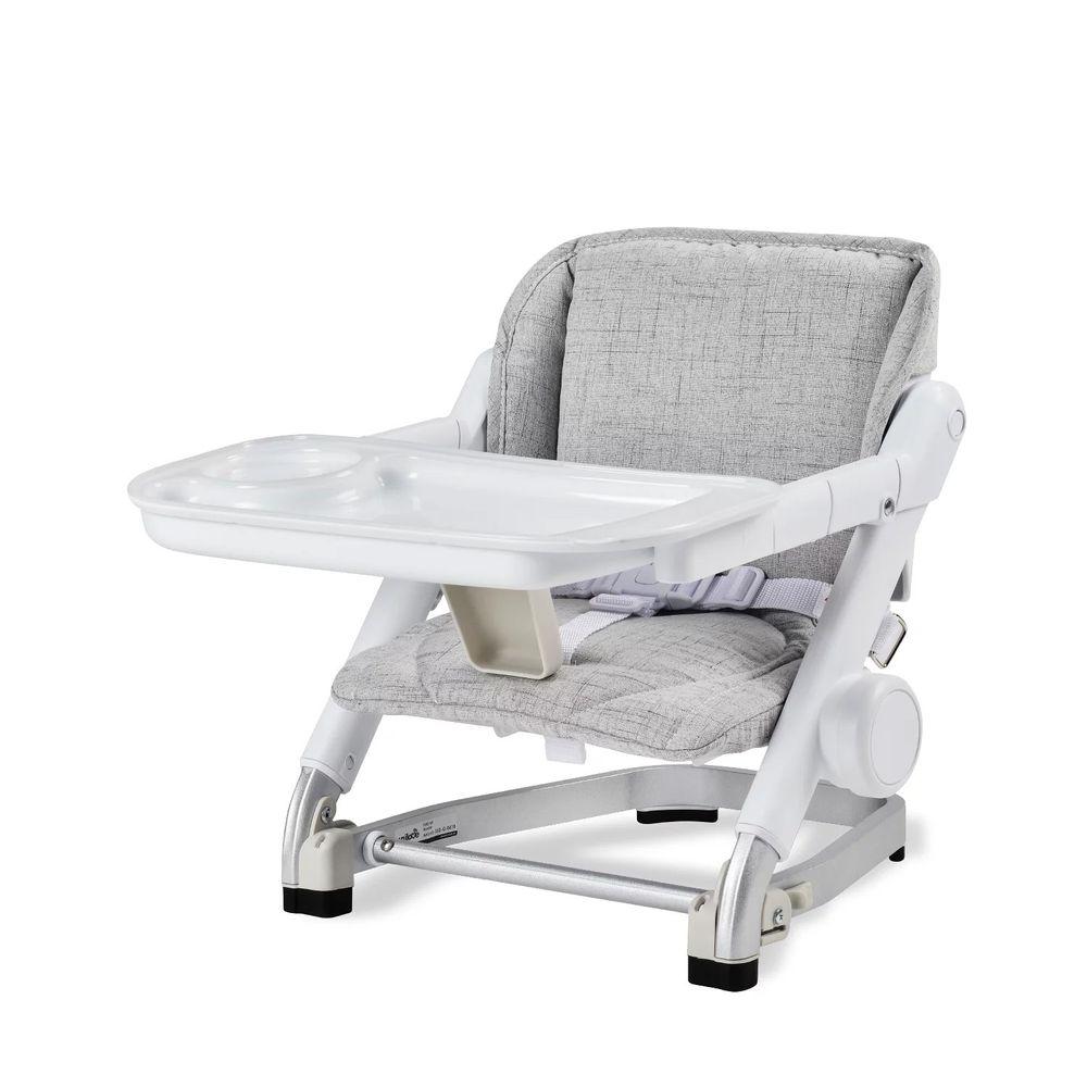 英國 Unilove - 超值優惠好康組 (攜帶式寶寶餐椅x1+專用座墊-灰色x1)-新款