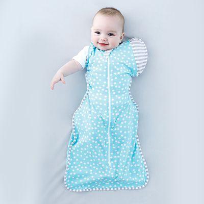 澳洲 Love to dream - SWADDLE UP 蝶型包巾-第二階段-輕薄-藍點