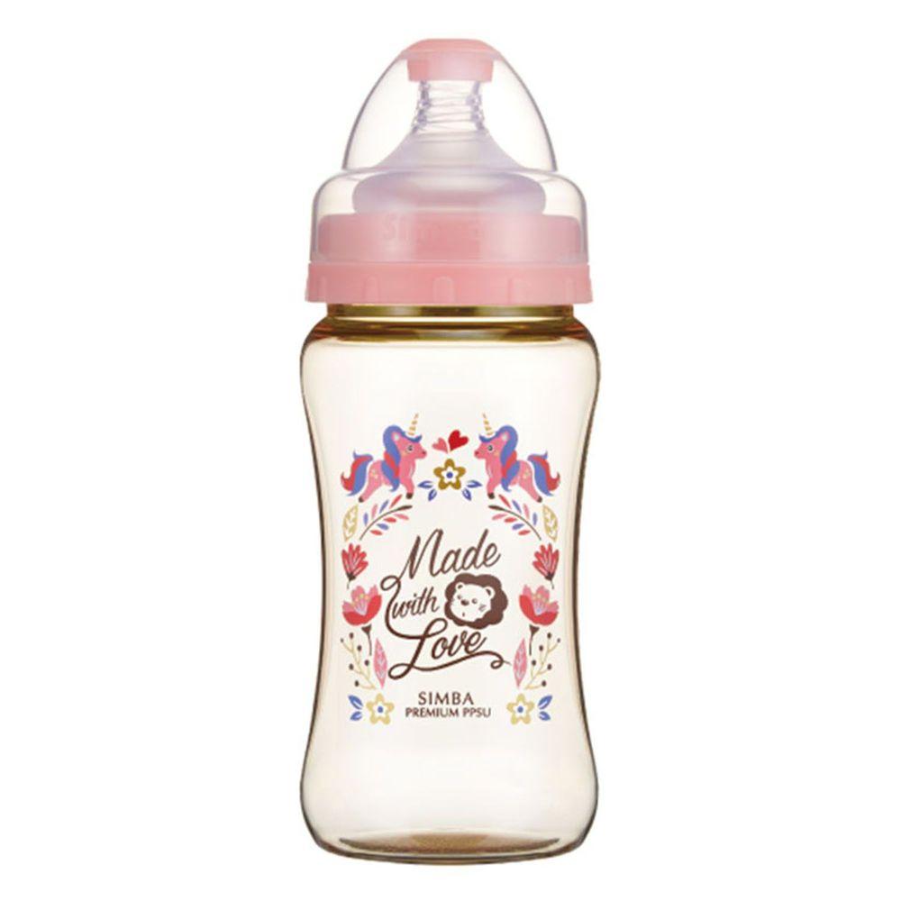 Simba 小獅王辛巴 - 桃樂絲 PPSU 寬口雙凹中奶瓶-獨角獸之夢-270ml