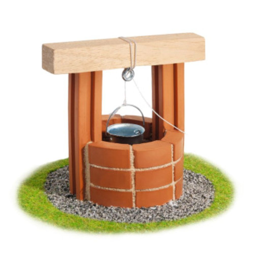 德國 teifoc - DIY益智磚塊建築玩具 歐式小水井 TEI1025