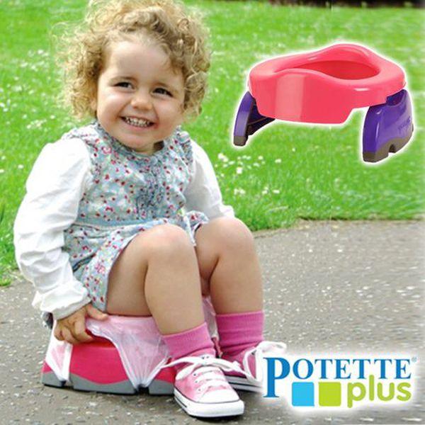 美國Potette Plus可攜式馬桶►出門也能乾淨上廁所!