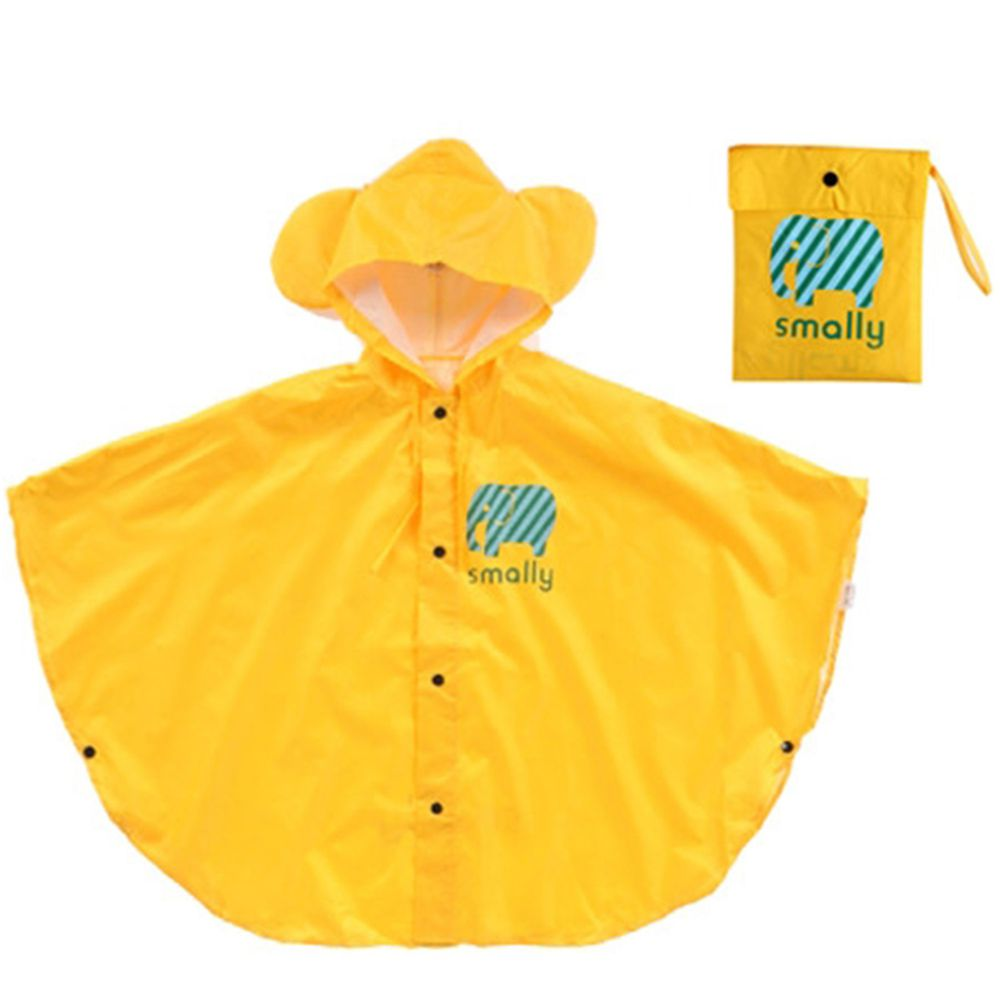 SMALLY - 兒童雨衣-雨披式-黃色
