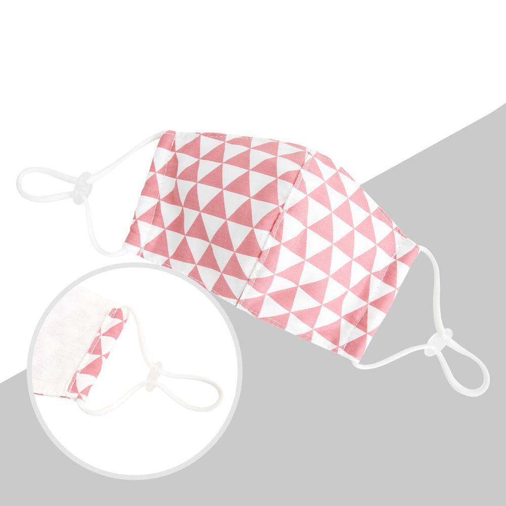 韓國 Coney Island - 純棉+2層棉紗兒童布口罩-粉紅三角形 (11*16cm)