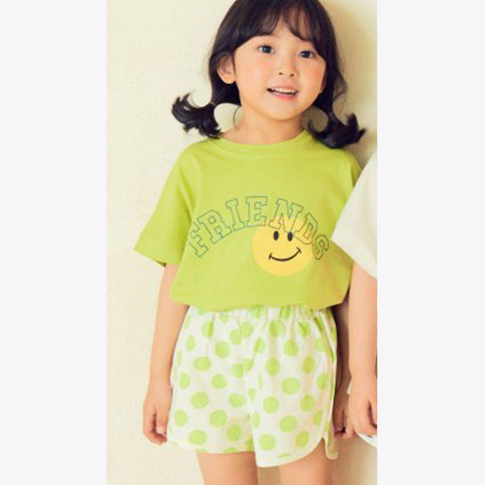 韓國 Hanab - 波點笑臉套裝-萊姆綠