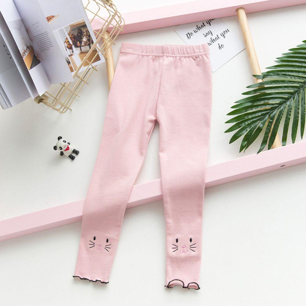 FANMOU - 內搭褲-貓咪-粉色