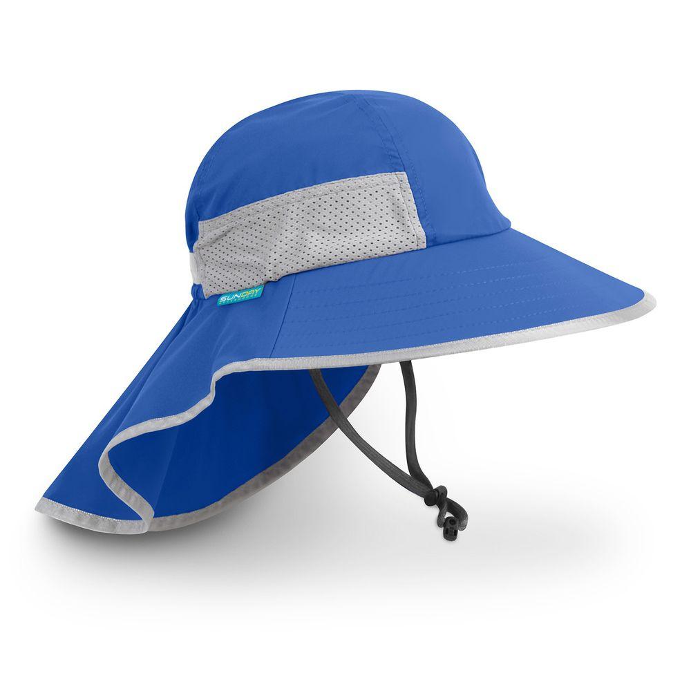 Sunday Afternoons - 兒童防曬帽-兒童抗UV防潑透氣護頸帽Kids Play Hat-皇室藍