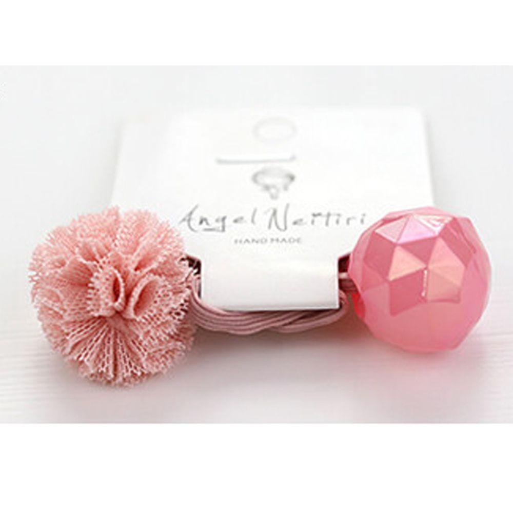 日本 Maison de Ravi - 浪漫紗球髮圈-粉