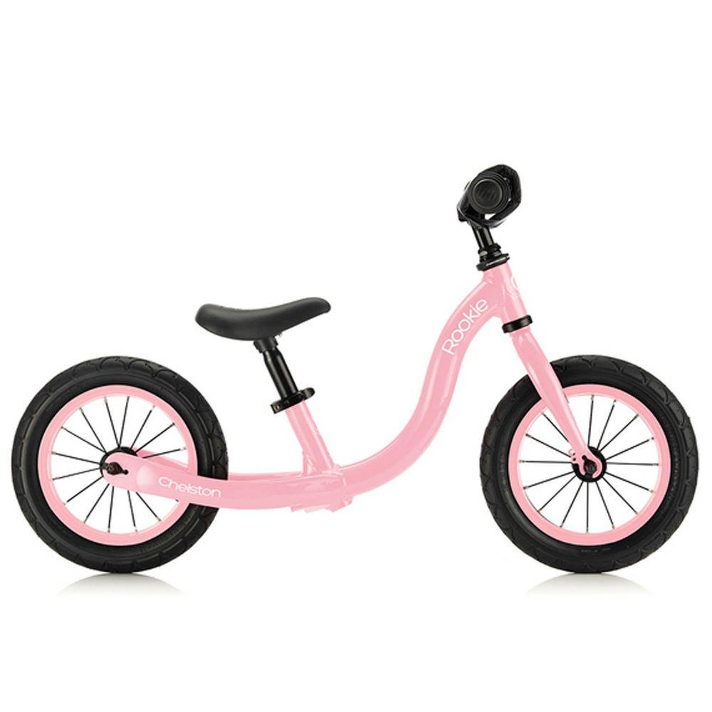 Chelston bikes - Rookie 平衡滑步車-嬰兒粉-平衡滑步車 x 1 , 3 歲以下專用ABS氣嘴蓋 x 1
