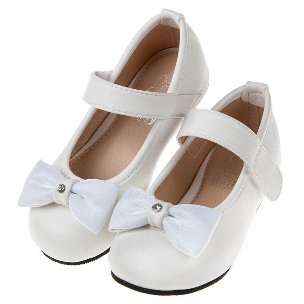 Miffy米飛兔蝴蝶結白色兒童公主鞋