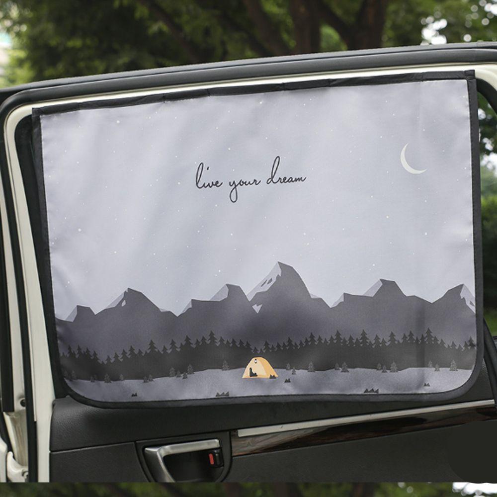 韓國 Bebe Deco - 完美遮光六層磁鐵遮陽窗簾-野外露營 (65*45cm)
