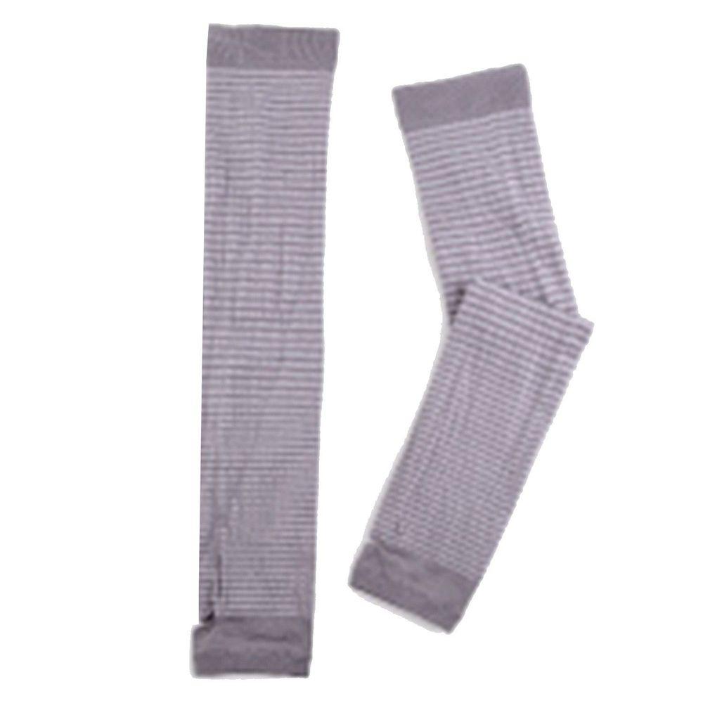 貝柔 Peilou - 高效涼感防蚊抗UV袖套-親子條紋-灰