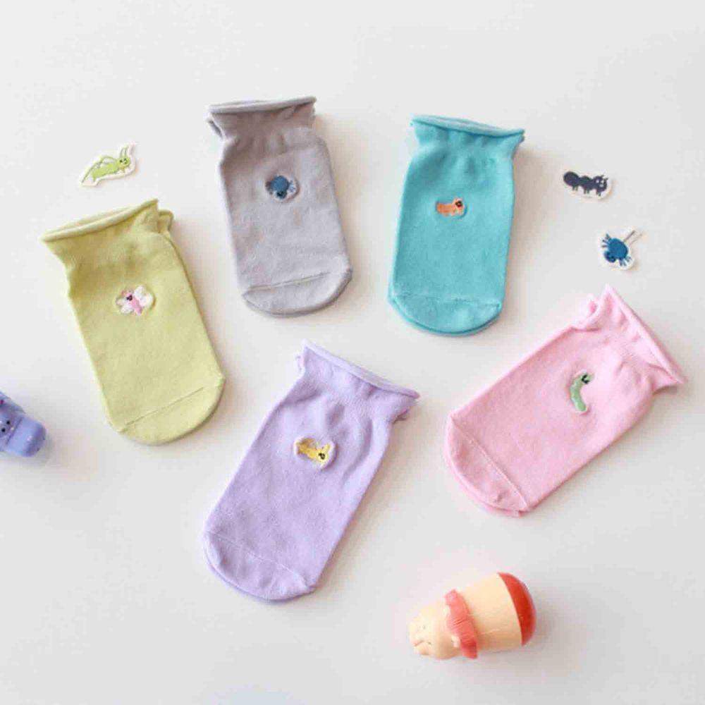 韓國 Kokacharm - 韓國製船型襪-五件組-Dear, my friends