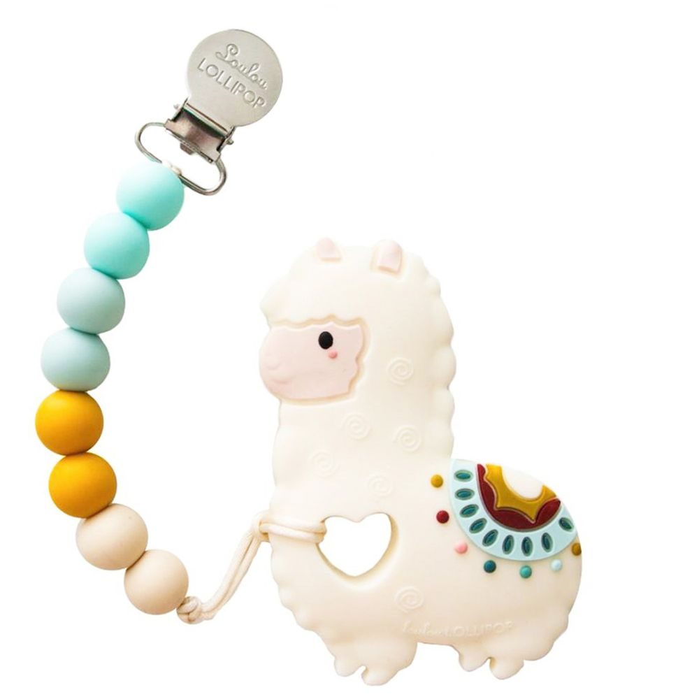 Loulou Lollipop - 加拿大 造型固齒器/奶嘴鍊組 - 草尼馬系列-民族風