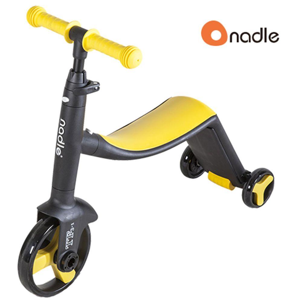 奧地利Nadle - 三合一多功能三輪滑步/滑板車-黃色
