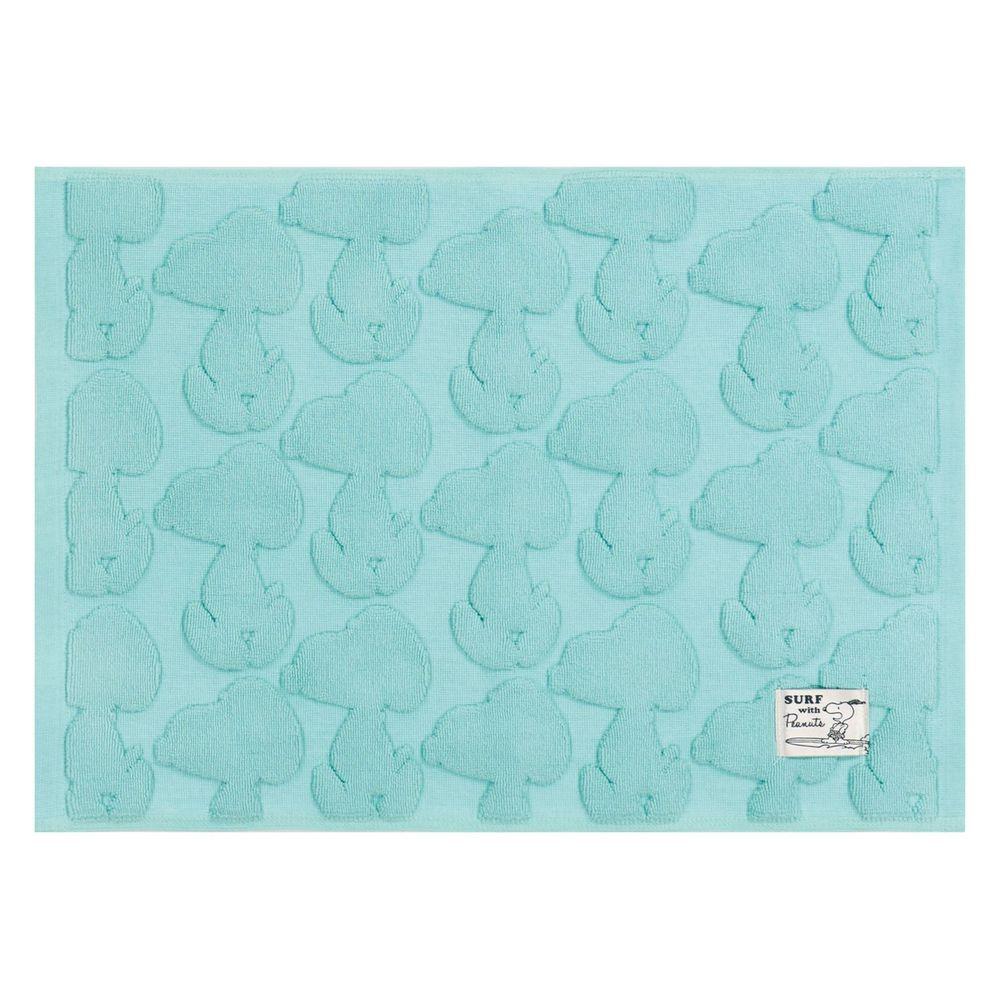 日本千趣會 - 史努比 純棉吸水立體剪影毛巾腳踏墊-史努比-藍 (43x60cm)