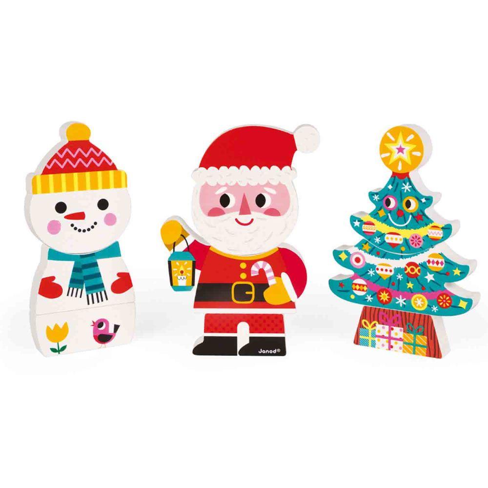 Janod - 磁性拼裝積木-快樂聖誕