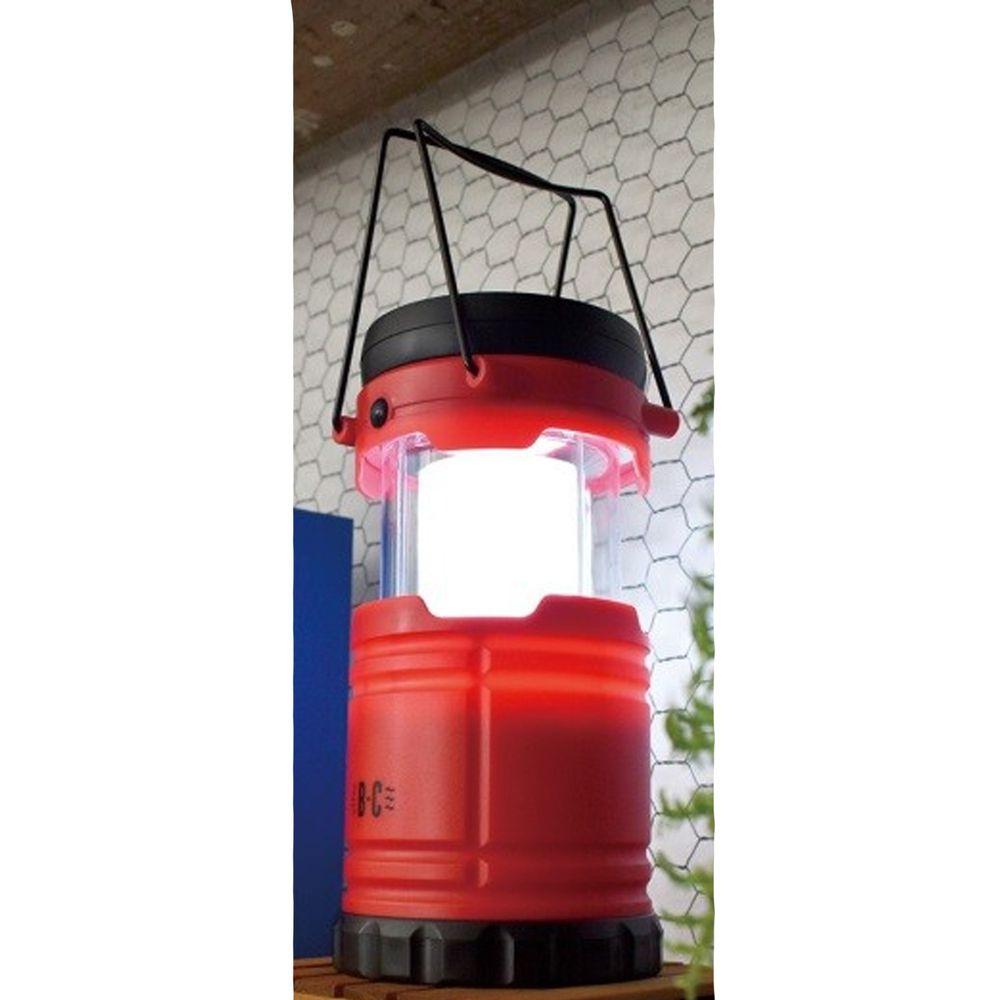 日本現代百貨 - 3way 輕便小風扇LED露營燈-紅 (Φ8.5×26cm)